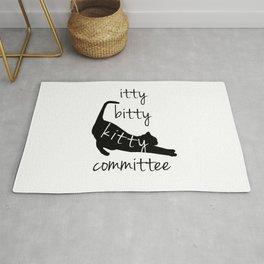 itty bitty kitty committee Rug