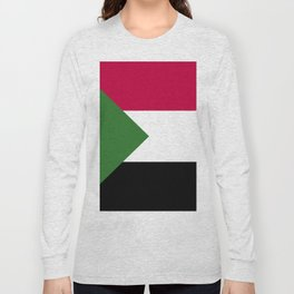 Sudan flag emblem Long Sleeve T-shirt