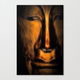 BuddhaFace golden Canvas Print