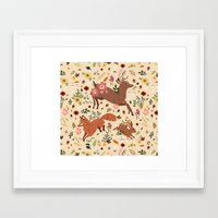 woodland Framed Art Prints featuring Woodland by Sophie Eves