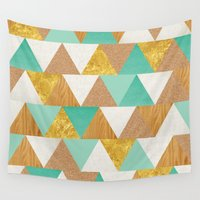 triangles Wall Tapestries featuring Triangles by Cat Coquillette