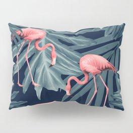 Summer Flamingo Jungle Night Vibes #1 #tropical #decor #art #society6 Pillow Sham
