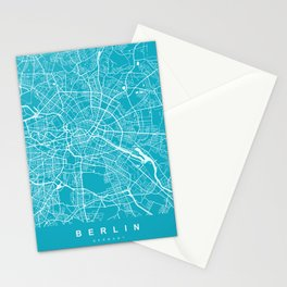 Berlin Map Germany | Blue II | More Colors, Review My Collections Stationery Cards