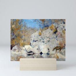 Tom Roberts In a Corner on the Macintyre Mini Art Print