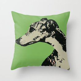 Greyhound art print Throw Pillow