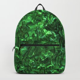 Abalone Shell | Paua Shell | Sea Shells | Patterns in Nature | Green Tint | Backpack