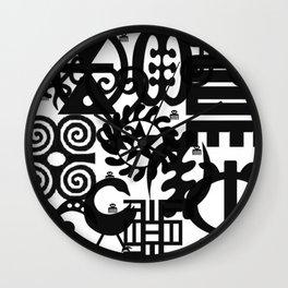 Adinkra Mix Wall Clock