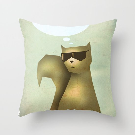 Fish and Chips Throw Pillow
