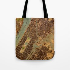Central Park map Tote Bag