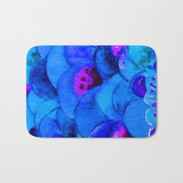 Blue Fish Bath Mat