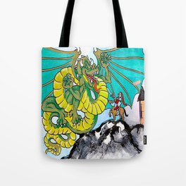 facing your fear (square) Tote Bag