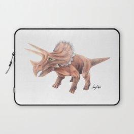 Orange Triceratops Laptop Sleeve
