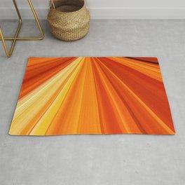 Bright Orange Sun Glare Rug