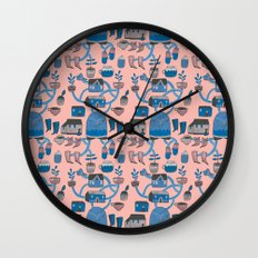 Pattern Project #17 / Bird Life Wall Clock