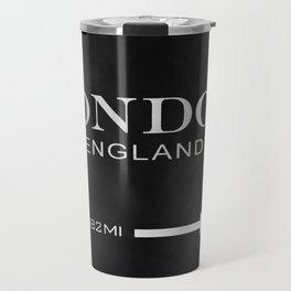 black watercolor London england Travel Mug