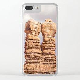 Twin Rocks Utah Clear iPhone Case