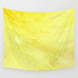 Abstract Yellow Sun by Robert S. Lee Wall Tapestry