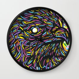 Colorful Eagle  Wall Clock