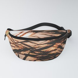 Reed Plume At Sunset | Nature Sunset Photography | Reed Plume Warm Glow Fanny Pack
