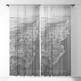 Ocean Beach Sunset Sheer Curtain