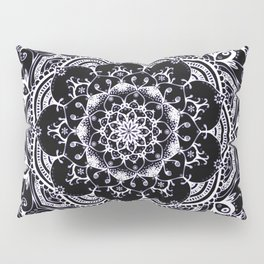 Lucid Dream Glowing mandala with a hint of purple on black. Pillow Sham