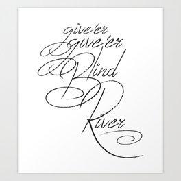 Give'er Give'er! Art Print