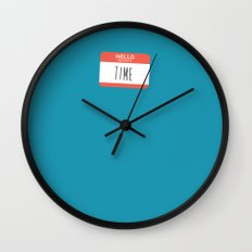 HELLO my name is... Wall Clock