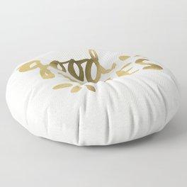 Good Vibes – Gold Ink Floor Pillow