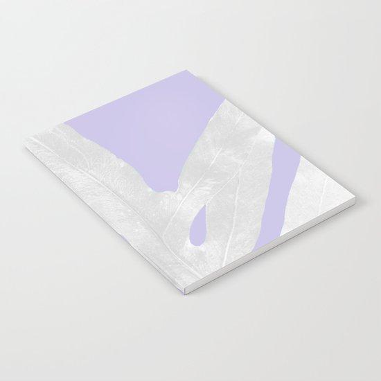 Green Fern on Lavender Inverted Notebook