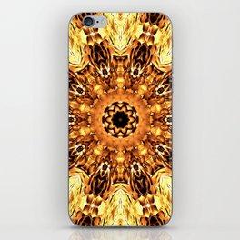 Yellow Brown Mandala Abstract Flower iPhone Skin