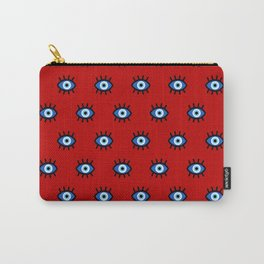 Evil Eye on Red Carry-All Pouch