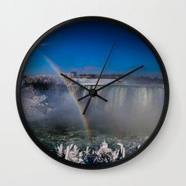 falls misty ranbow Wall Clock