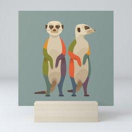 Meerkats Mini Art Print