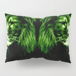 Green LION Pillow Sham