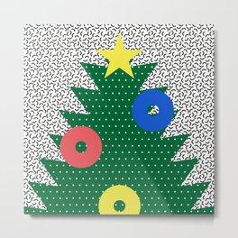 Memphis Christmas Tree Metal Print