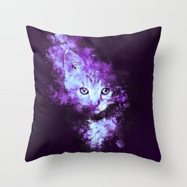 abstract young cat wsdp Throw Pillow