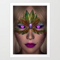 shiba Art Prints featuring Shiba Eyes by Brian Raggatt