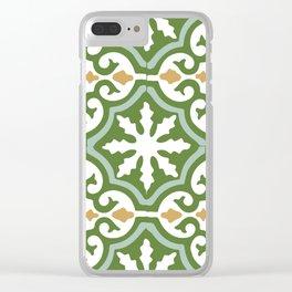 Geometric Mosaic Tile Pattern Clear iPhone Case