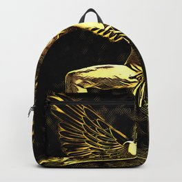 3525-MM Golden Angel Feminine Energies Contained Fingers Wings Spread Backpack