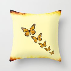 Rustic Butterflies Throw Pillow