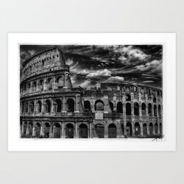 Coliseum, Rome Art Print