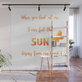Sunny anniversary love quote Wall Mural