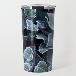 Hoarfrost Ivy Leaves Travel Mug