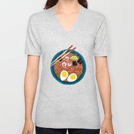 Ramen Noodles for Lunch Unisex V-Neck