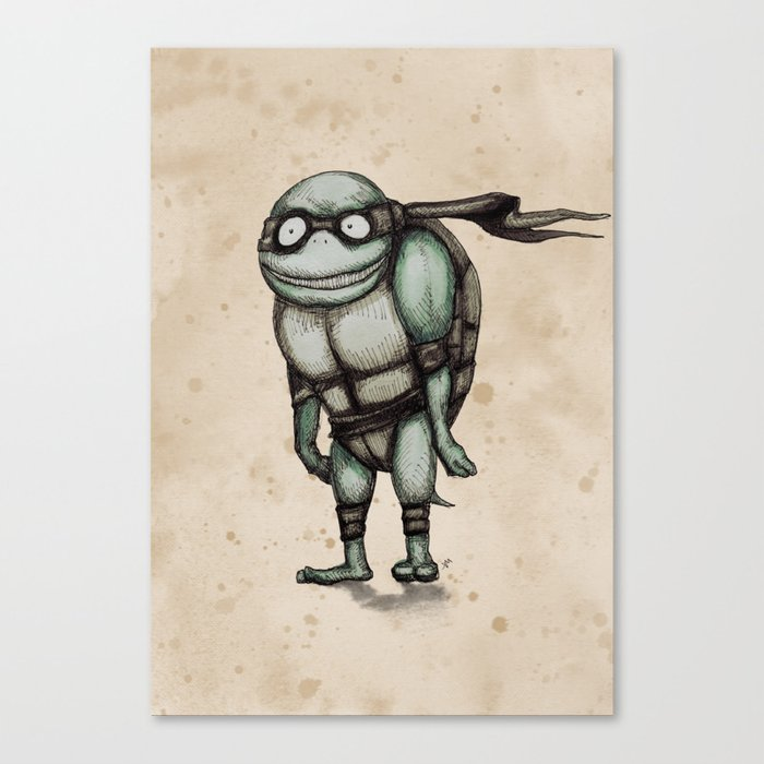 Teenage Mutant Burton Turtle Canvas Print