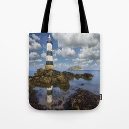 Penmon Lighthouse Tote Bag