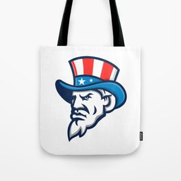 Uncle Sam Wearing USA Top Hat Mascot Tote Bag