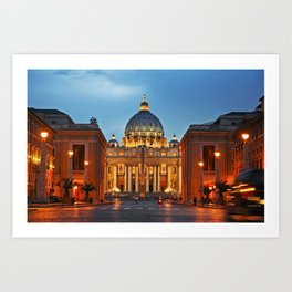 SAINT PETER'S CATHEDRALE in ROME Art Print
