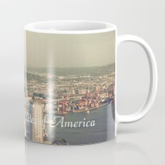 City of Seattle. View from city tower. Landscape city architecture photography. Mug