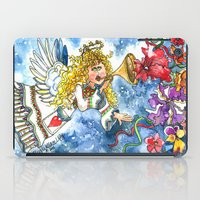 angel iPad Cases featuring Angel by Shelley Ylst Art